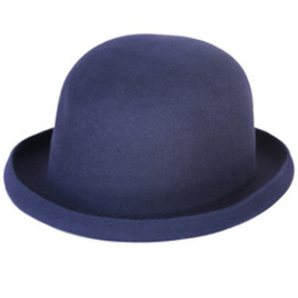 PHINGERIN - Rabbit Fur Bowler Hat (navy)