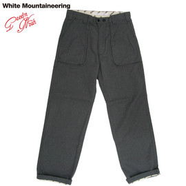 White Mountaineering - Mixed yam herringbone WIDE BUSH TROUSERS