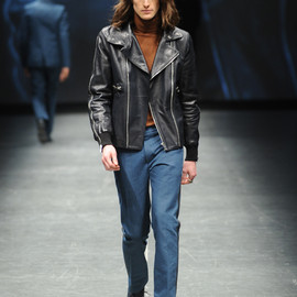 DIESEL BLACK GOLD - 2012AW Leather jacket