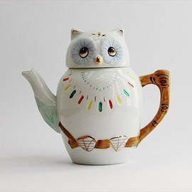 1950's Owl tea pot and cup
