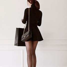 beautiful legs and combination with Chanel mini dress - beautiful legs and combination with Chanel mini dress