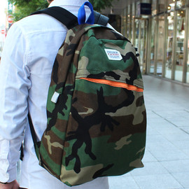 FREDRIK PACKERS - FREDRIK PACKERS *COMMUTE PACK* SPECIAL MODEL / WOODLAND CAMO X ORANGE  TOKYO CULTUART by BEAMS別注