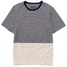 CASH CA - PANEL BORDER S/S TEE GREY / NAVY
