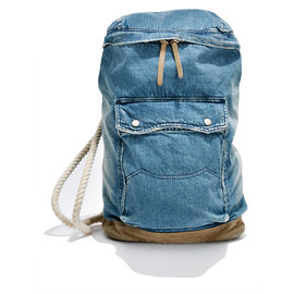 White Mountaineering - USED DENIM ONE SHOULDER BAG