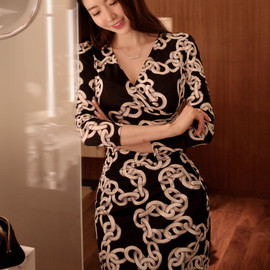 LUXE ASIAN - [Luxe Asian Women Dresses Fashion Style Korean Fashion Clothing] Glam chain women Dresses