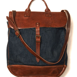RRL - COALMONT DENIM SATCHEL BAG