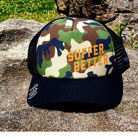 Suffer Better - Camo Foam Trucker