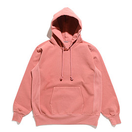 AURALEE - Super Milled Sweat P/O Parka-Pink Red