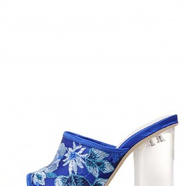 JEFFREY CAMPBELL - Jeffrey Campbell Shoes LILLI in Blue Clear