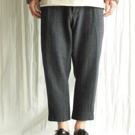 TROVE - HERRINGBONE CROPPED PANTS