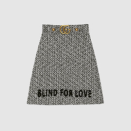 GUCCI - Embroidered tweed skirt
