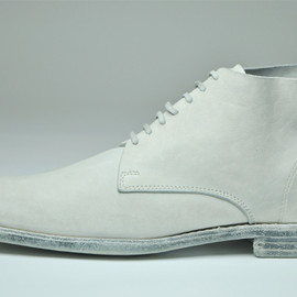 GUIDI - white ankle boots