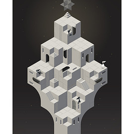 iam8bit - monument valley print - MULTISTABLE PERCEPTION