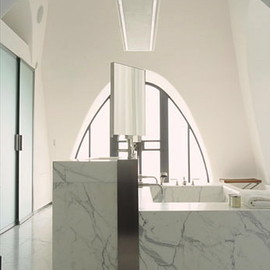 Christian Liaigre - Carrara Marble bathroom