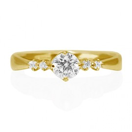 Hatae jewelry - K18YG Diamond Engagement Ring
