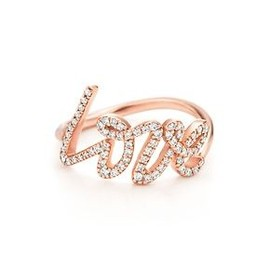 tiffany - love ring rose gold
