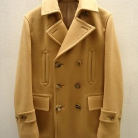 Scye Basics - SUPER MELTON P COAT (CAMEL)