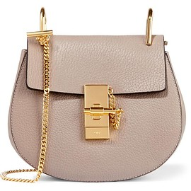 Chloé - Drew mini textured-leather shoulder bag