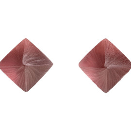 Alexis Bittar - Pyramid Post Earring, Wine Red