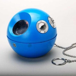 "Panasonic - Panapet 70 R-70 ""Ball & Chain"" radio Blue 1970s"
