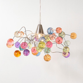 Flowersinlight - Ceiling light - pastel color bubbles