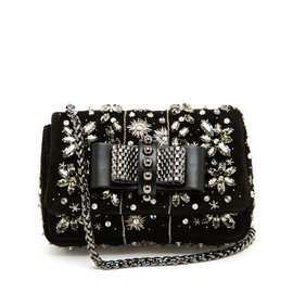 CHRISTIAN LOUBOUTIN - Sweet Charity Embellished Suede Bag
