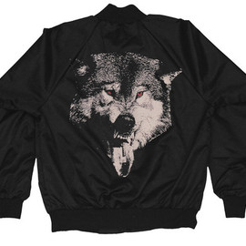 ACTUAL PAIN - ACTUAL PAIN - Acid Wolf // Nylon Snap Jacket // Black