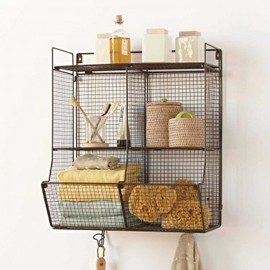VivaTerra - Four-Bin Wire Hanging Shelf by VivaTerra