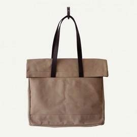 Makr - CANVAS AND LEATHER FOLD WEEKENDER