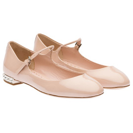 miu miu - Patent leather Mary Jane ballerina