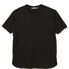 nonnative - TROOPER HENLEY NECK S/S TEE COTTON JERSEY OVERDYED