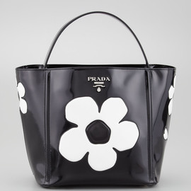 PRADA - Spazzolato Floral Open Bucket Bag