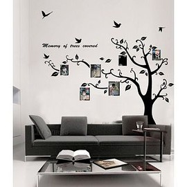 wallstickerdeal - Memory of Tree Covered Photo Frame Wall Sticker