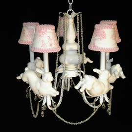 Whimsical Collections - Nursery Chandelier Leaping Bunny Rabbits
