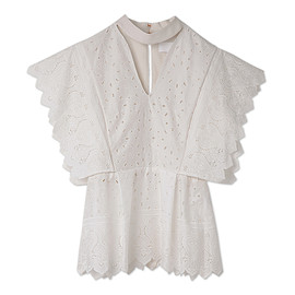 mame - Cut Work Lace Cotton Tops