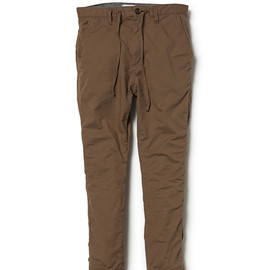 nonnative - DWELLER EASY RIB PANTS C/P GROSGRAIN