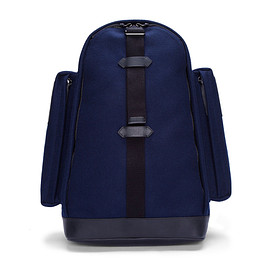 GIVENCHY - Givenchy Navy Felt and Leather Backpack