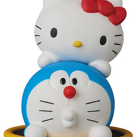 MEDICOM TOY - UDF DORAEMON meets HELLO KITTY DORAEMON × HELLO KITTY & 通り抜けフープ
