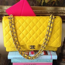 CHANEL - yellow.