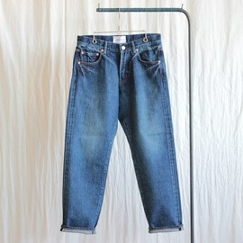YAECA - Denim Pants - tapared straight / 12.5oz used wash #navy