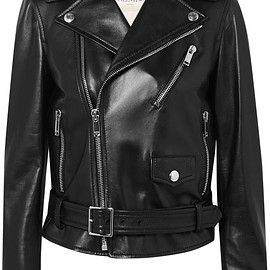 VALENTINO - Rockstud embellished leather biker jacket