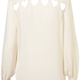 TOPSHOP - Heart Cutout Back Shirt