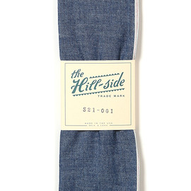The HILL-SIDE - Selvedge Chambray Bandana in Indigo