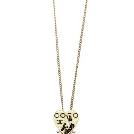 CHANEL - heart pendant necklace