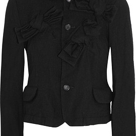 Comme des Garçons GIRL - Cropped bow-embellished wool-blend jacket