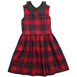 Tommy Hilfiger - Red 'Kendall Check' Dress with Collar