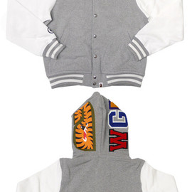 A BATHING APE - SHARK VARSITY TYPE パーカー