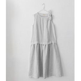muku - White Cloud Dress with Pleat and Ribbon