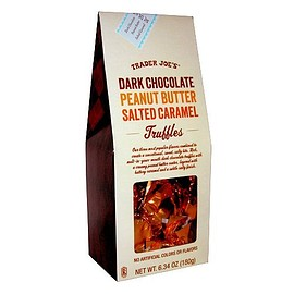 Trader Joe's - Dark Chocolate Peanut Butter Salted Caramel Truffles