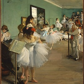 Edgar Degas - The Dance Class, 1874.